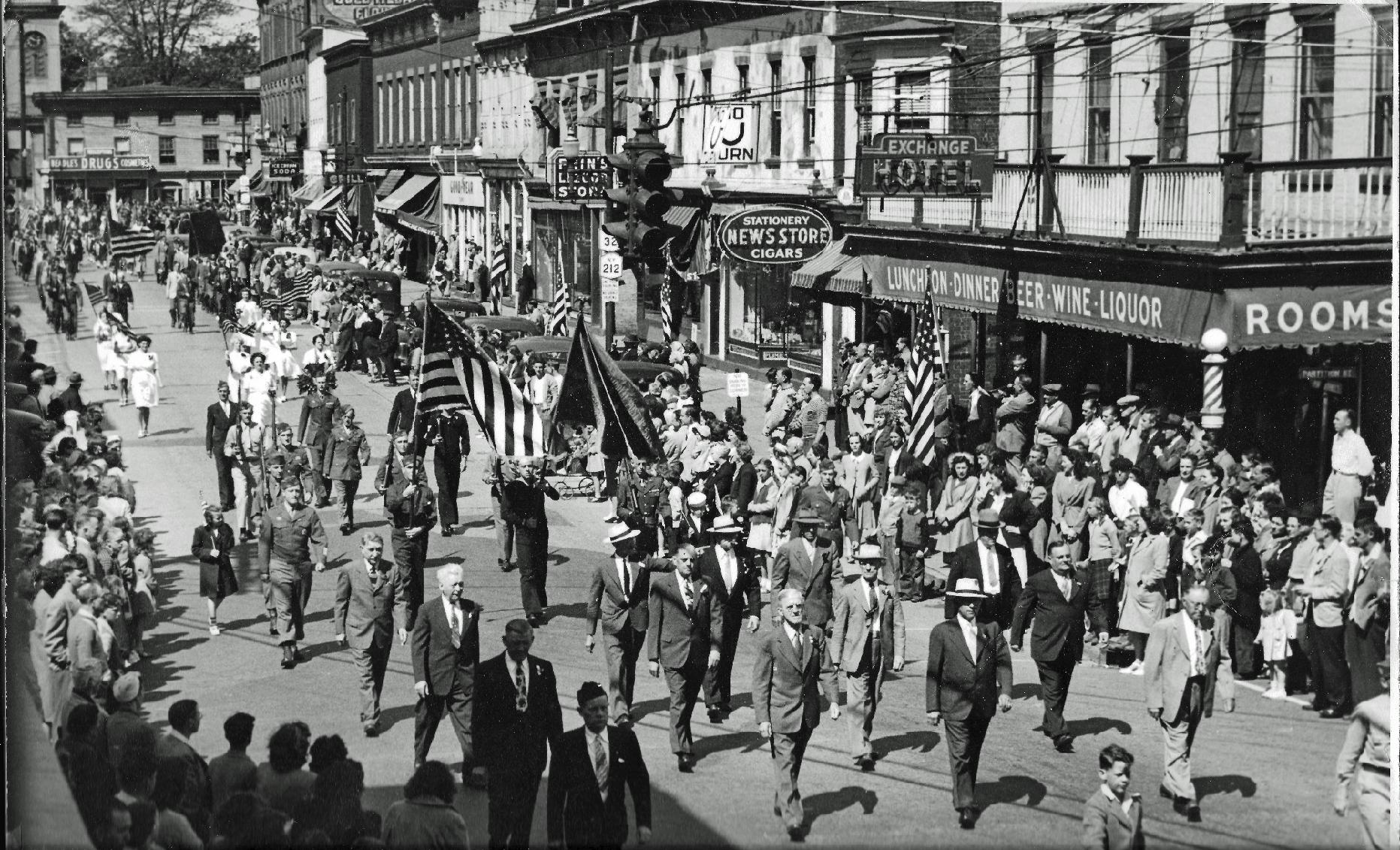 VFW Post 5034 in a 1947 parade in Saugerties, NY