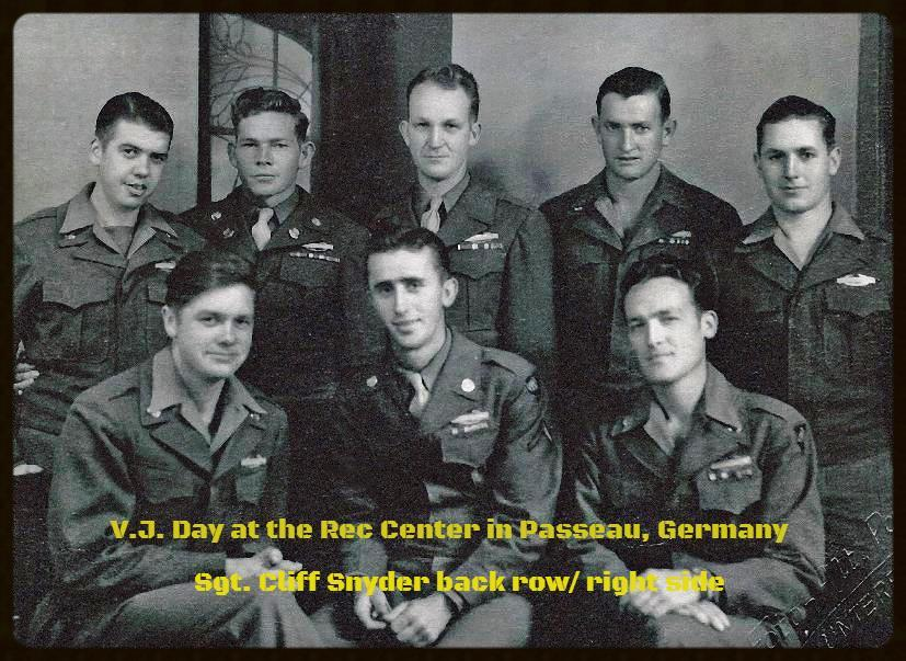 VJ Day at the Rec Center in Passeau, Germany