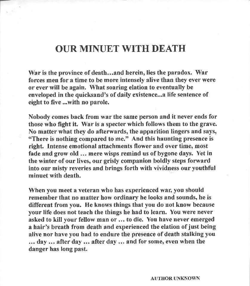 Our Minute with death